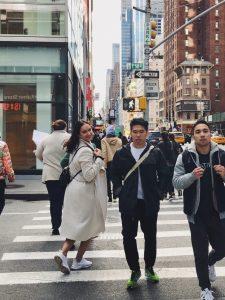 Am Wochenende erkundeten wir die Innenstadt von New York, den Broadway, Museen…